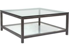 Artistica Home Per Se 42'' Wide Square Cocktail Table   ATS2013947 Dark Wood Coffee Table, Modern Coffee Tables, Best Coffee Maker, Best Coffee Mugs, Oak Dining Table, Display Homes, Cocktail Tables, Glass Shelves, Home Living Room