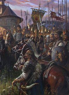 Stephen III of Moldavia (detail), 2018, oil on canvas, 169x98 Image House, Romania, Oil On Canvas, Medieval, Moldova, Armies, Bulgaria, Detail, Battle