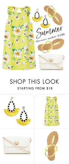 """Summery Dresses"" by groove-muffin ❤ liked on Polyvore featuring BaubleBar, MANGO, Red Herring and Charlotte Russe"