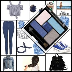 Blue-Summer by fashion-queen-diva on Polyvore featuring VILA, Topshop, Converse, Prada, Ice, Kendra Scott and Cheap Monday