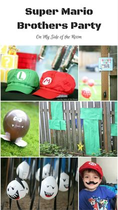 Super Mario Birthday Party -  mario party games, obstacle course, simple diy decorations, free printables