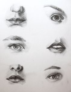 Eye and Mouth Study by orangeBeanie.deviantart.com on @deviantART