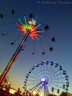Photos of the Del Mar Fair at night