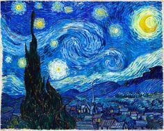 """noite-estrelada.jpg """"Quando sinto uma necessidade de religião, saio à noite para pintar as estrelas""""    Vincent van Gogh"""