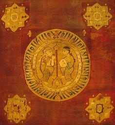 Pillow Cover of Berengaria. Época Alhmohade. Dos mujeres danzando frente a frente