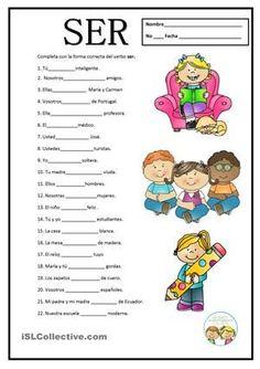 Reasons to Learn Brazilian Portuguese Spanish Lessons For Kids, Spanish Basics, Spanish Lesson Plans, Spanish Classroom Activities, Spanish Teaching Resources, Spanish Language Learning, Grammar Activities, Spanish Verb Ser, Spanish Vocabulary