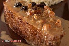 Rosbife de picanha gratinado, por Carla Pernambuco. http://www.bemsimples.com/br/receitas/66447-rosbife-de-picanha-gratinado