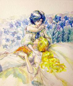 Watercolor Zoisite x Mercury