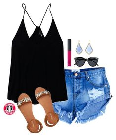 """""""80°"""" by raining-crystals ❤ liked on Polyvore featuring Kendra Scott, Wilfred Free, NARS Cosmetics, Le Specs and Miss KG"""