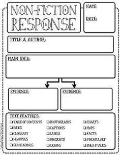 Love how this graphic organizer incorporates text features.