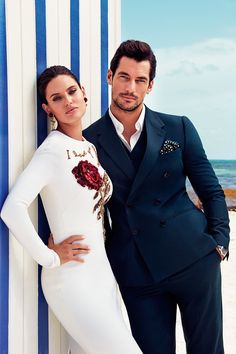 UHQ New - David Gandy & Bianca Balti for Dolce & Gabbana Light Blue 2015 Photo by Victor Demarchelier Location: The Miami Edition