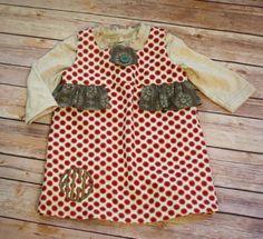 Noel Dress with Monogram by SweetKsBoutique on Etsy