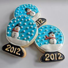 Snowglobe cookies from coutureconfections.com