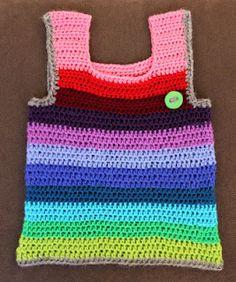 Free tutorial crochet rainbow vest for infant