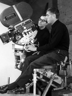 Jean-Luc Godard and Raoul Coutard