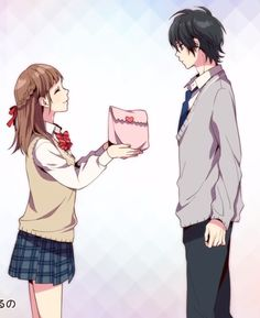 #HONEYWORKS #カヌレ / CHiCO with HoneyWorks Koi, Anime Girl Pink, Anime Art Girl, Horimiya, Hyouka, Honey Works, Romantic Manga, Couple Illustration, Japanese Cartoon