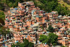 Favelas, (shantyowns) Rio de Janeiro, Brazil.