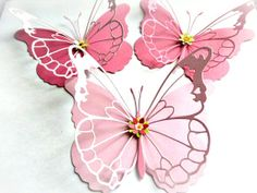 Delicate Butterflies in Baby Girl Pinks by MyButterflyHeaven