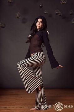 Stripe Pants, yoga pants, circus pants, steampunk, ringleader, harmonic threads