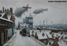 Want to discover art related to steampunk? Check out inspiring examples of steampunk artwork on DeviantArt, and get inspired by our community of talented artists. Steampunk Kunst, Steampunk Airship, Gothic Steampunk, Steampunk Clothing, Steampunk Fashion, Gothic Fashion, Dirigible Steampunk, Science Fiction, Art Nouveau