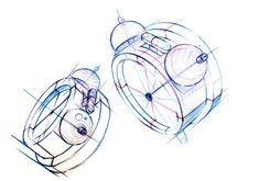 노원미술학원에서 장미꽃과 자명종시계를 소재로 그린 화사하고 밝은 분위기의 기초디자인 연구작을 공개합... Train Drawing, Drafting Drawing, Drawing Studies, Perspective Drawing, Gesture Drawing, Design Language, Quick Sketch, Sketch Design, Drawing Techniques