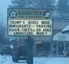 Funny Donald Trump Memes and Viral Images: Trump's Wives Were Immigrants Trump Protest, Protest Signs, Trump Immigration, Immigration Reform, Trumps Wife, Election Memes, 2016 Election, Presidential Election, Donald Trump Pictures