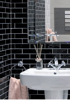 Our top design tip for metro tiles is that make a statement is to use a contrasting grout colour. This is also effective with mosaics and cut décor tiles where you want to highlight the shape of the tile. #metrotiles #subwaytiles #homegoals #featurewall #homedecor #mosaics #interiordesign Metro Tiles, Feature Walls, Trendy Home, Grout, Subway Tile, Mosaics, Highlight, Floors, Colour