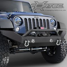 OR-Fab™ Front Full Width Bumper with Top Winch Mount with Hoop for 07-14 Jeep® Wrangler JK & JK Unlimited