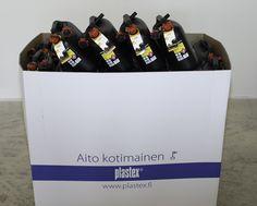Bensakanisterit saatavilla myös eurolava displayssa! Made in Finland