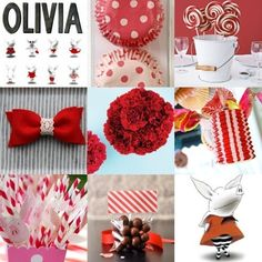 Olivia The Pig Birthday Supplies | olivia party by dolores