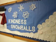 Winter bulletin children write kind deed done on snowball, word pun, inspire kindness to snowball! - aurora bulletin boards Winter bulletin children write kind deed done on snowball, word pun, inspire kindness to Easy Bulletin Boards, December Bulletin Boards, Elementary Bulletin Boards, Kindergarten Bulletin Boards, Reading Bulletin Boards, Winter Bulletin Boards, Elementary Library, Kindergarten Literacy, Elementary Schools