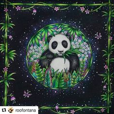 Great by @roofontana ・・・ Meu panda - Selva Mágica #magicaljungle #selvamagica #florestaencantadainsta #florestaencantadatop #jardimcolorido #terapianojardim #desenhosparacolorir #inspiracaojardimsecreto #jardimsecretoinspire #johannabasford #artecomoterapia #colorindolivrostop