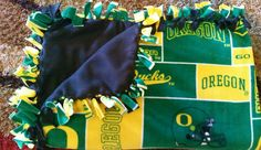 Oregon Ducks (2yd) Handmade Fleece Blanket by KnotMyStyleBoutique on Etsy
