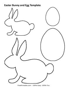 Easter bunny and egg print out