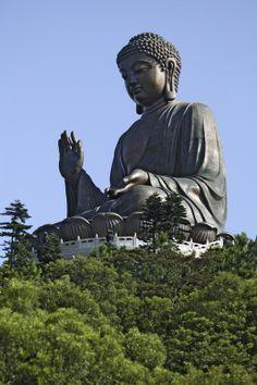 The giant statue of Buddha in Hong Kong #China