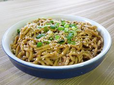 Jeremy Lin-guine (cold sesame noodles, easier)