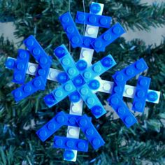 lego christmas snowflake ornament