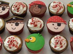 cupcakes decorados piratas - Buscar con Google