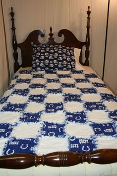 Indianapolis Colts Rag Quilt $78.00