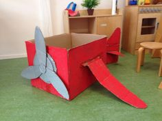 Another idea would be to have multiple airplanes for the kids instead of one big one Dramatic Play Themes, Dramatic Play Area, Dramatic Play Centers, Transportation Preschool Activities, Preschool Crafts, Toddler Activities, Crafts For Kids, Play Centre, Role Play Areas