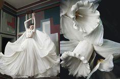LIMEROOM interpritation | Lydie Kochetkova by Saima Altunkaya for L'Officiel Ucraina April 2012, White daffodils