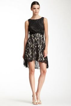 Alexia Admor Eyelet Trim Lace Dress by Alexia Admor on @HauteLook