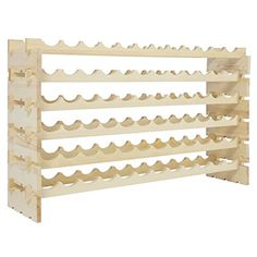 Modern Trendy Classic Wine Rack Holds 72 Bottles Stackable 6 Tier Solid Wood That Comes Unfinished Wood You Can Stain Paint Or Varnish To Match Any Dcor You Might Have *** Visit the image link more details. (This is an affiliate link) #HashTag3