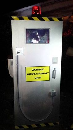 I saw a few vids on Zombie Containment boxes where you basically use a TV and some effects to give the illusion you've trapped a zombie in a box.