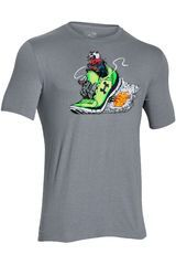 Polo de Hombre UNDER ARMOUR GREED FOR SPEED GRAPHIC TEE Gris