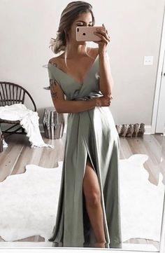 elegant off shoulder formal evening dresses, chic split prom gowns for special occasion