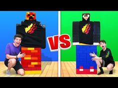 Mega Lego Minecraft Build Battle vs My 13 Year Old Little Brother Minecraft Wallpaper, Lego Minecraft, Clothing Logo, 13 Year Olds, Battle, Brother, Baby Shower, Baseball Cards, School
