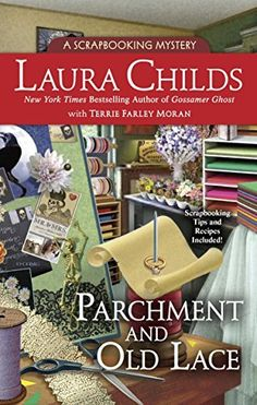 Parchment and Old Lace (A Scrapbooking Mystery) by Laura Childs, http://www.amazon.com/dp/B00TY3ZKMW/ref=cm_sw_r_pi_dp_Aw2evb19WRHH0