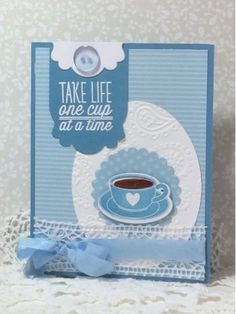 Handmade card by Luanne using the One Cup set from Verve. #vervestamps