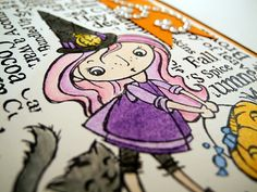 #Halloween #Kiddo by *Jingle* from New #Stampendous images http://www.stampendous.com/product/0/CRP175-R/_/Cling_Kitty_Candy_Kiddo